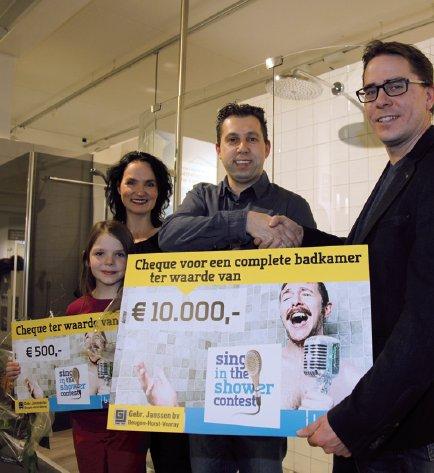 Baderie Janssen Beugen en Baderie Horst geven nieuwe badkamer weg